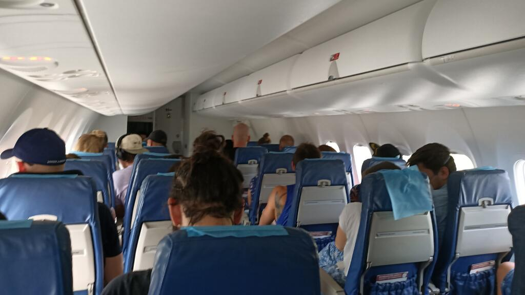 inside airplane to siargao