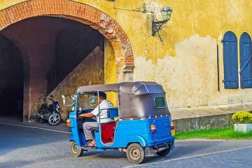 tuk tuk in Galle Sri L:anka