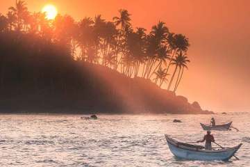 Mirissa Sri Lanka sunset at coconut hill