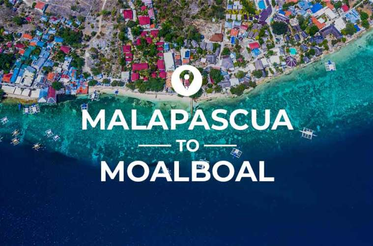 Malapascua to Moalboal ferry and bus route