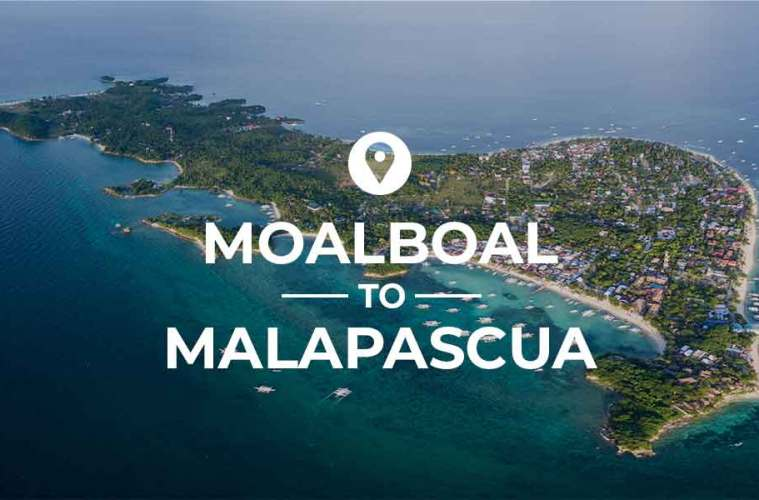 Moalboal to Malapascua bus and ferry route via Maya