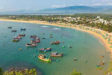 Quy Nhon Vietnam view on beach