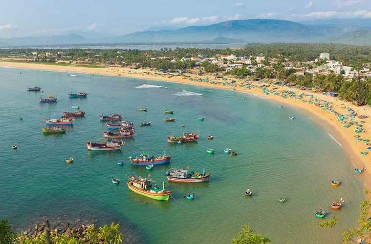 Quy Nhon Vietnam view on beach