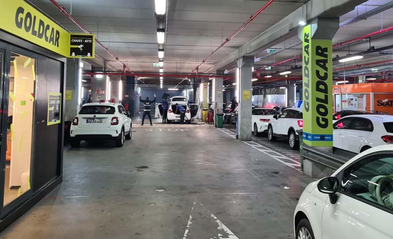 Returning the car at car rental company