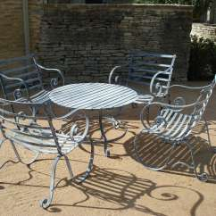 Metal Garden Table Chairs Chaise Lounge For Outside Furniture