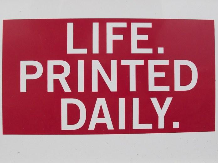 Life!Printed Daily.