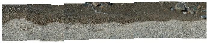 Sable, humide et sec (255.9cm x 65.1cm)