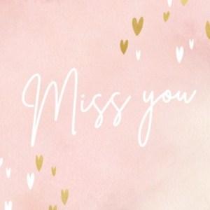 Miss you kaart