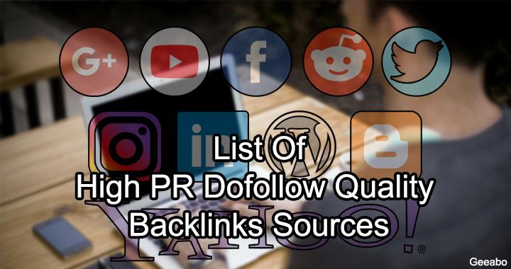 High PR Dofollow Quality Backlinks