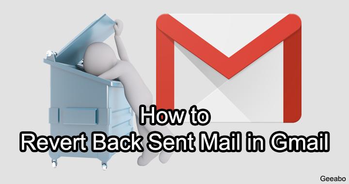 Revert Back Sent Mail