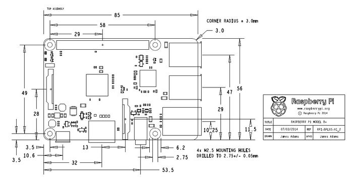 quadcopter schematic diagram 2011 f250 trailer wiring new product available: raspberry pi model b+ – geeetech blog
