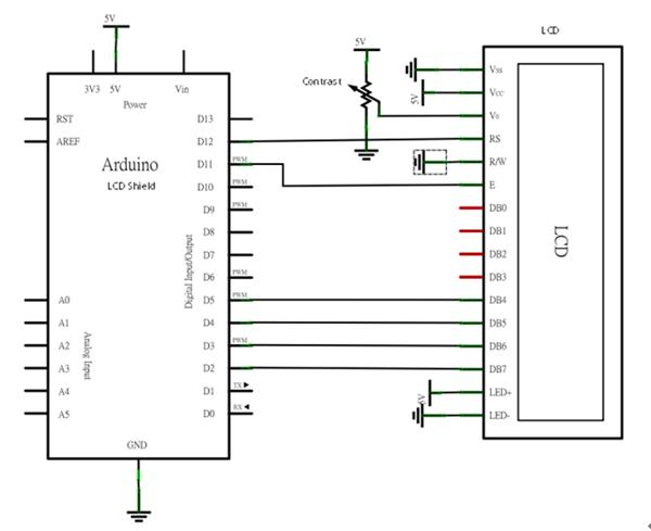 schematic and wiring diagram delta motor 1602 lcd - geeetech wiki
