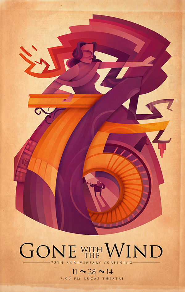 Sean Loose - Lucas Theatre Event Posters Gone With the Wind