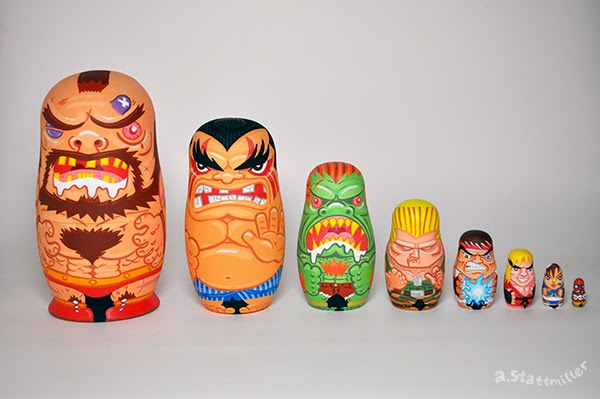 Andy Stattmiller - Nesting Dolls Street Fighters