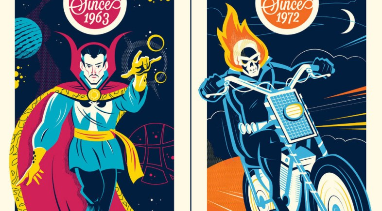 Dave Perillo – Dr Strange and Ghost Rider for Grey Matter Art