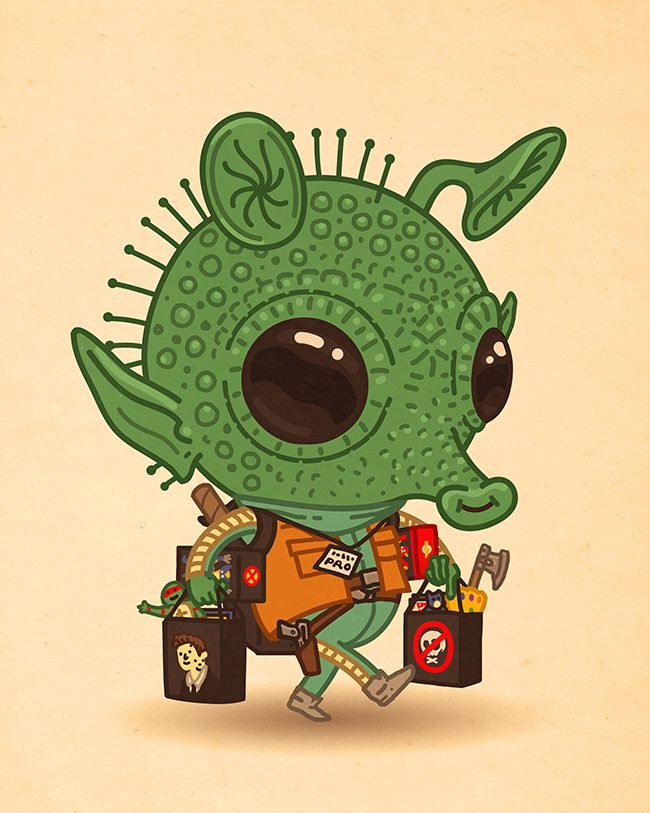 Mike Mitchell - Exclusive San Diego Comic Con Prints Greedo JLU