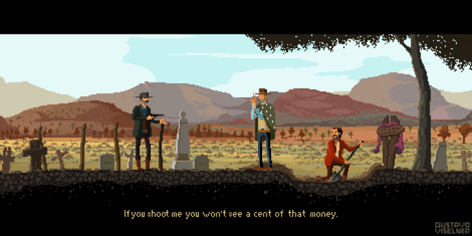 Gustavo Viselner - Cult Movies Pixel Art The Good, the Bad and the Ugly