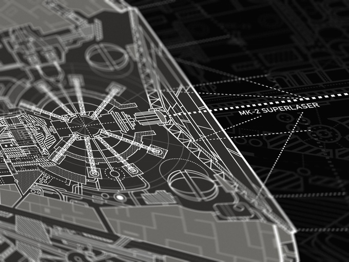 Carlos Pardo - Death Star II - The Lost Blueprint Poster Detail 4