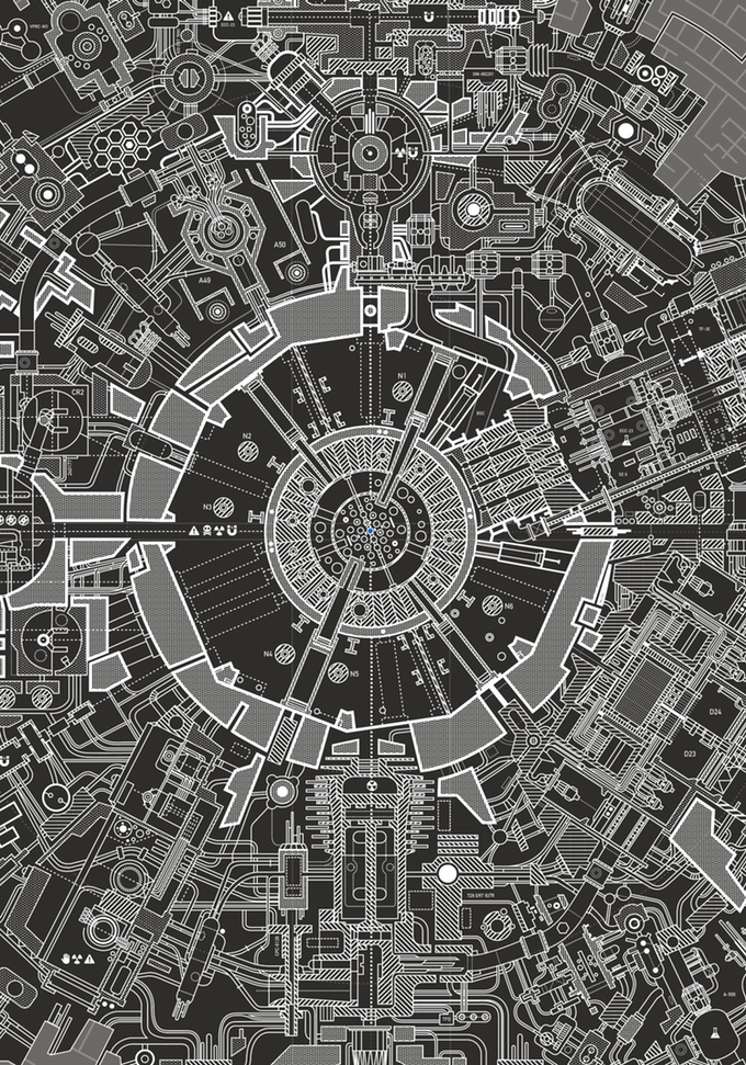 Carlos Pardo - Death Star II - The Lost Blueprint Poster Detail
