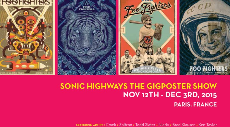 Sonic Art Ways – L'Exposition Officielle Foo Fighters à la French Paper Gallery