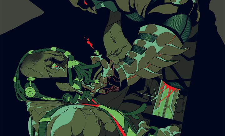 Tomer Hanuka – Sérigraphie Officielle The Dark Knight Rises pour French Paper Art Club