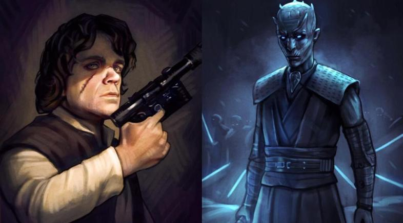 Les Héros de Game of Thrones dans l'Univers de Star Wars par Andrew Tran