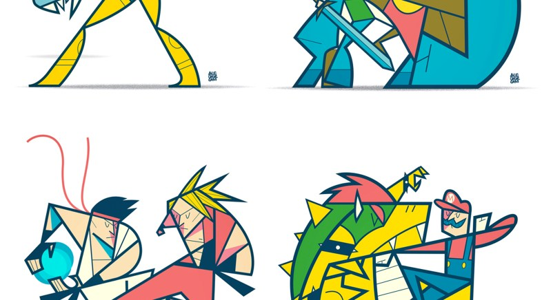 La série de prints Fight Labs d'Ale Giorgini disponible sur le Geek-Art Store !