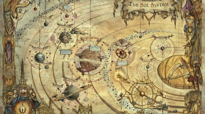 The Art of Francesca Baerald, Mapping Imaginary Worlds