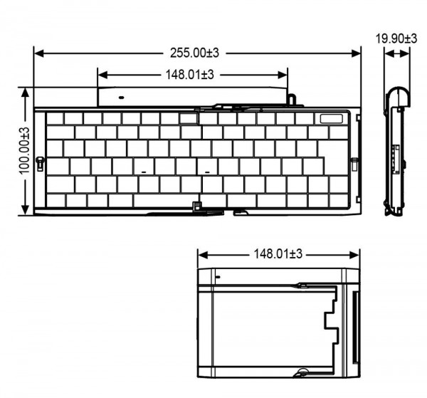 Perixx Periboard-806 Folding Aluminium Bluetooth Keyboard