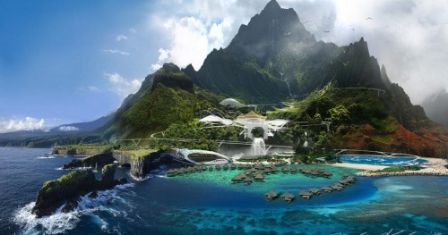 Le parc d'attraction Jurassic World