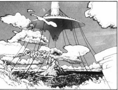 La ville poubelle de Zalem et la ville de Kuzutetsu flottant dans les airs
