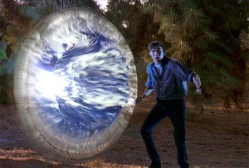 Un exemple de vortex ouvert vers un autre monde par le minuteur