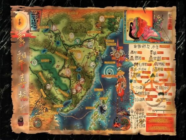 Carte d'univers de l'Empire d'Emeraude