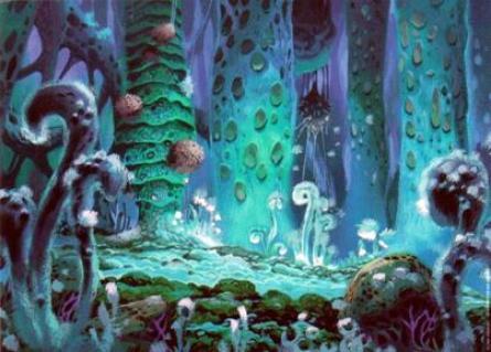 Un exemple de végétation de la Fukaï, cette forêt aux spores toxiques