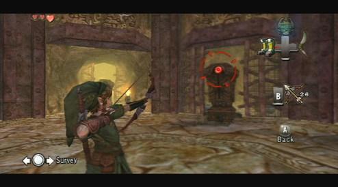 Twilight Princess - Exemple de visée sur Wii