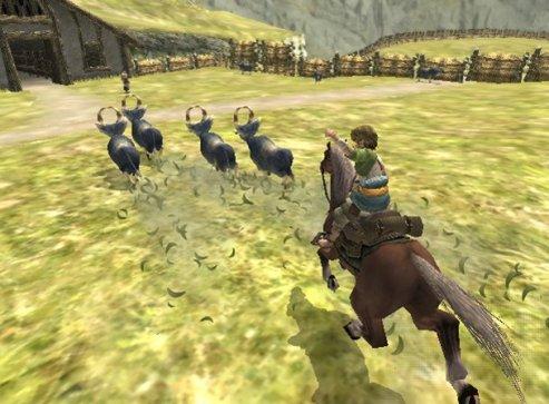 Twilight Princess - Link et Epona rentrent les chèvres