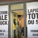 """Quand une boutique annonce... """"la lapidation totale"""" de son stock"""