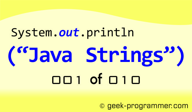 Introduction to Java String – I | geek-programmer