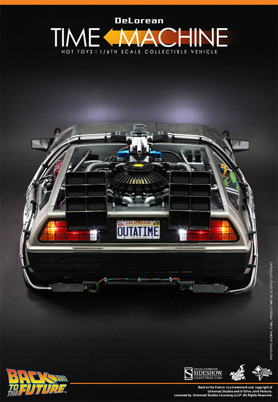Back To The Future Delorean Sixth Scale Collectible Vehicle