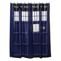 DOCTOR WHO | your very cool tardis shower curtain