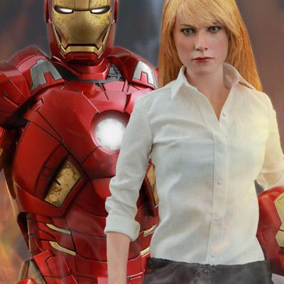 Pepper Potts And Iron Man Mark IX Sixth Scale Figures