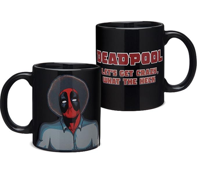 Deadpool Bob Ross Heat Change Mug