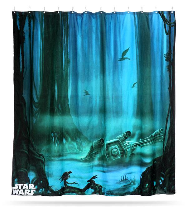 star wars dagobah shower curtain