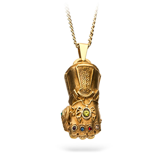 Thanos, the newly introduced supervillain, is now in search for the crucial infinity stones which include the mind stone, time stone, power stone, space stone,. Thanos Infinity Gauntlet Pendant