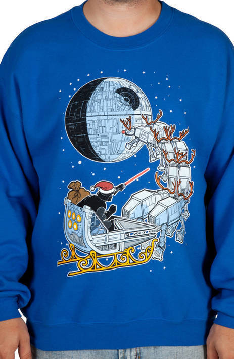 Darth Vader Sleigh Ugly Faux Sweater