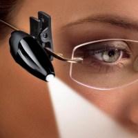 Clip-On LED Reading Light for Glasses