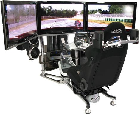 Awesome Triple LCD Racing Simulator