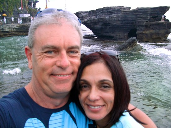 Martin Cooney and Pamela Allen in Bali for the first time