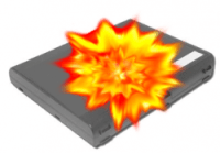 Exploding Laptop Battery