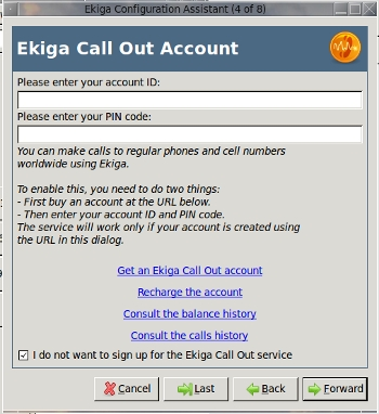 Call Out Account Information